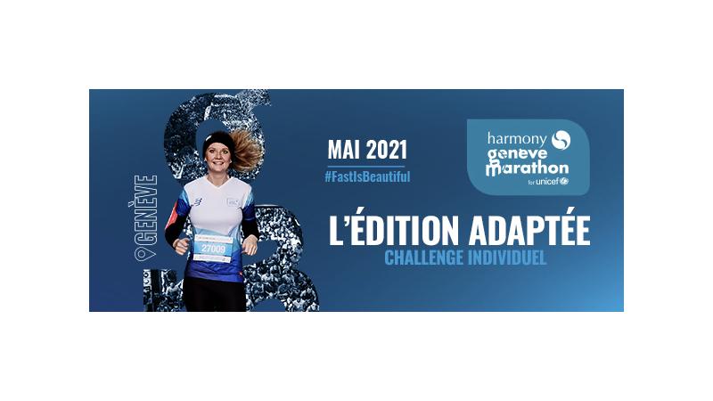 Le Harmony Genève Marathon for Unicef aura lieu du 1er au 30 mai 2021