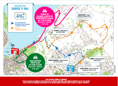 Road traffic disruption and access on May 11th and 12th 2019
