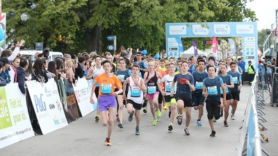 A carnival atmosphere on day one of the Harmony Geneva Marathon for Unicef